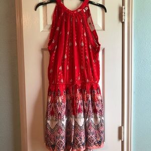 New York & Company Red Romper Size Small